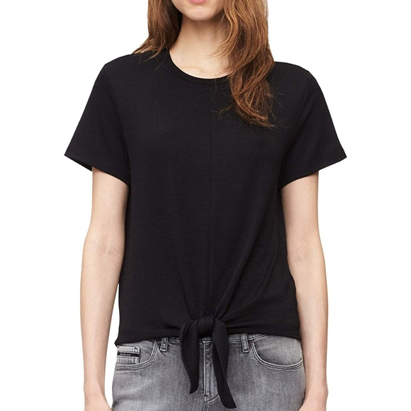 Tie Boutique Klein Top Calvin Sleeve Short New Knot Front tdosQrCBhx